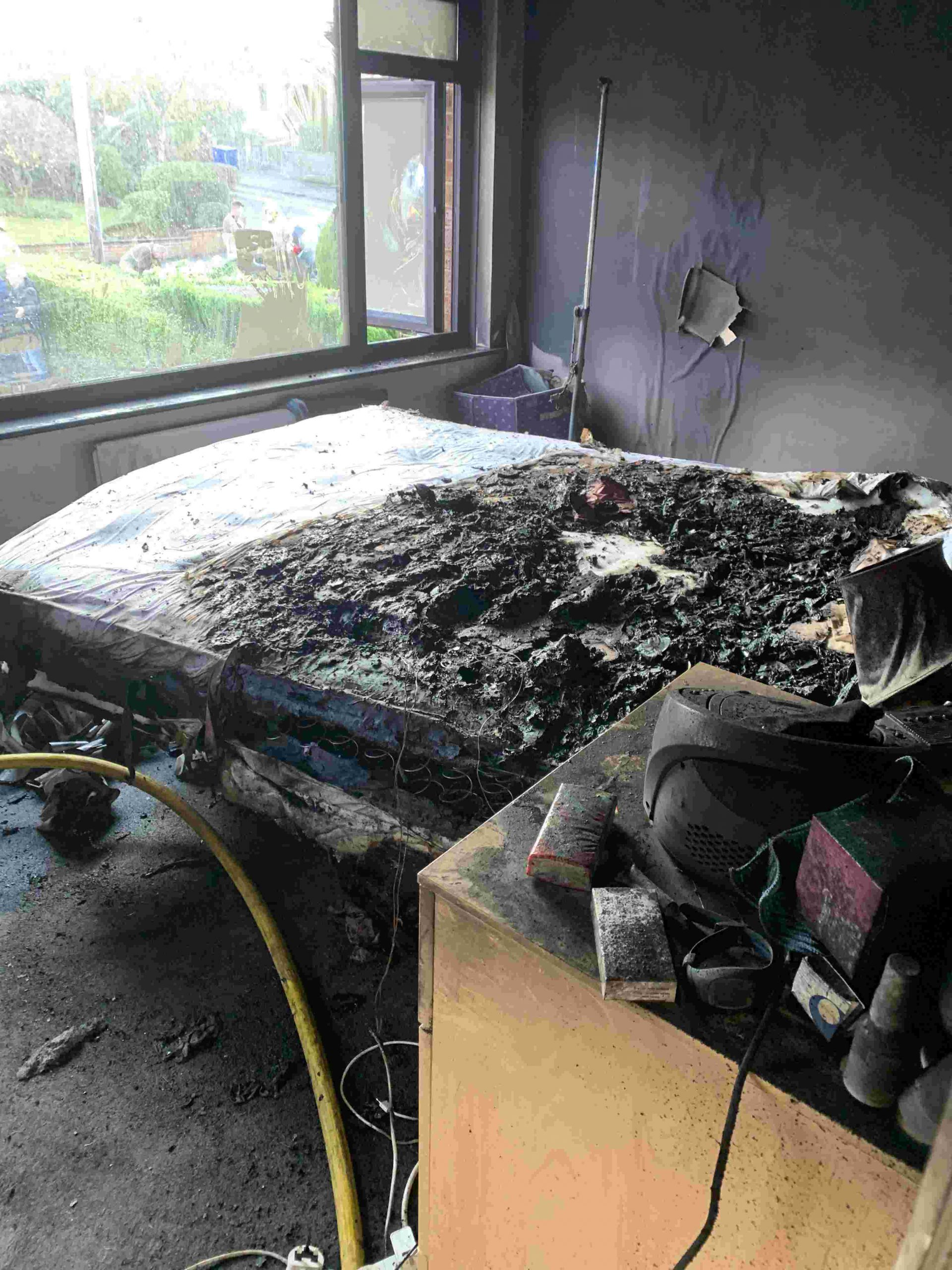 A fire caused by an electric blanket