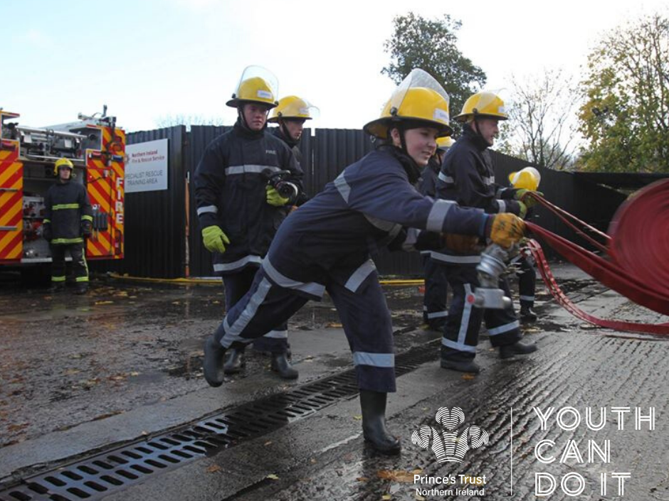 Young NIFRS Recruits at an open training day.