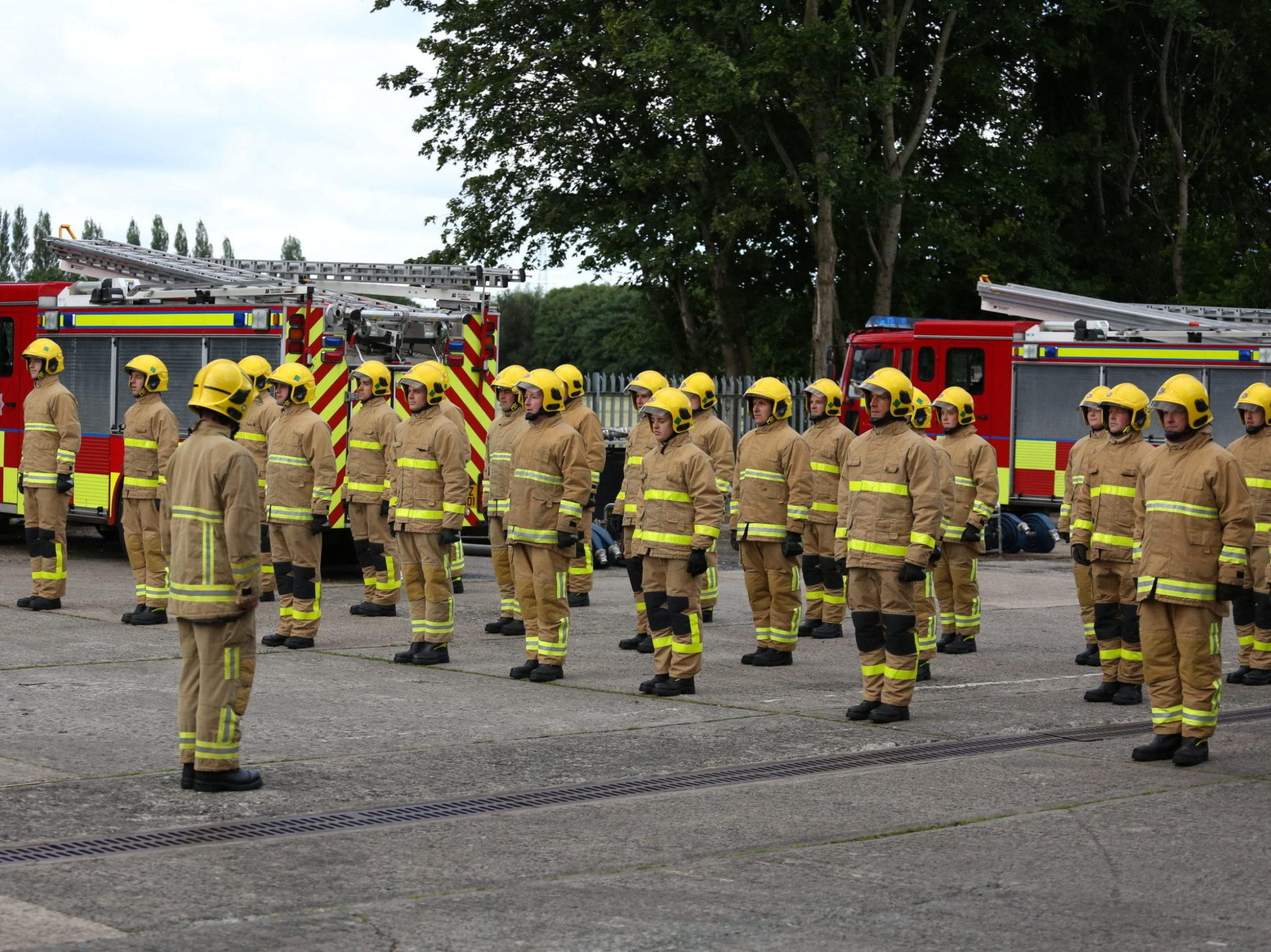 Trainee Firefighters.