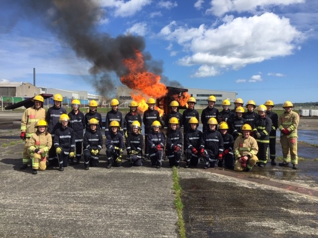 NIFRS Cadets with Cadet Leaders.