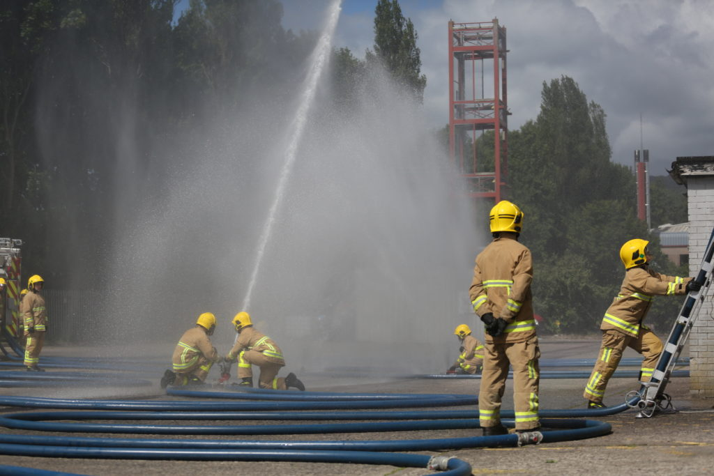 NIFRS Firefighters in training.