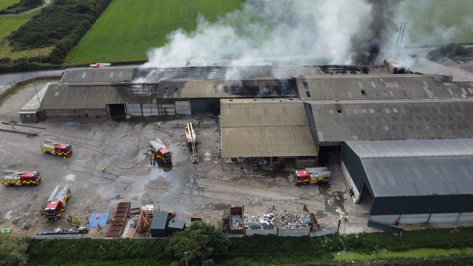 Recycling Plant Fire, Downpatrick Road, Killough
